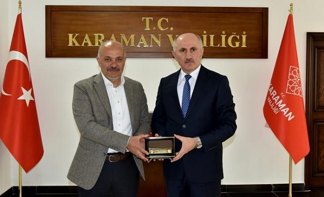 Belediye Başkanı Çalışkan'dan Vali Meral'e Veda Ziyareti