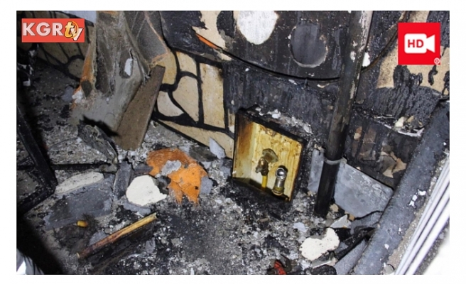 Bebek Arabasında Başlayan Yangın Korkulu Anlar Yaşattı