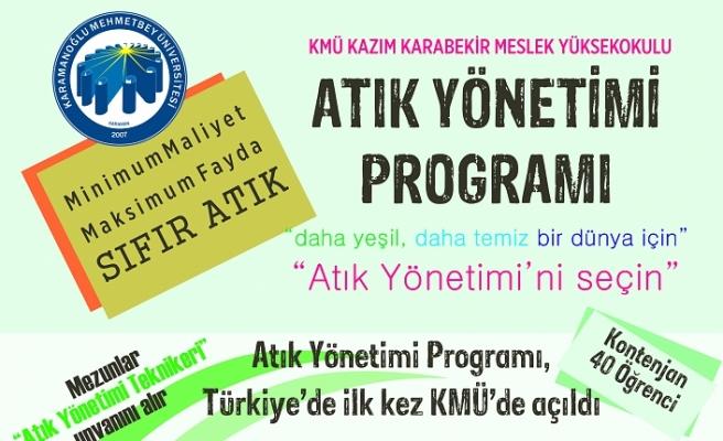 Türkiye'de İlk ve Tek: 'Atık Yönetimi Programı'