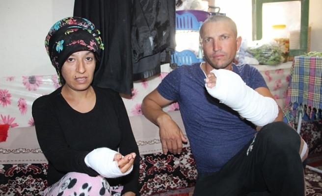 Hamile Kadın İle Kocasına Silahlı Ve Sopalı Saldırı