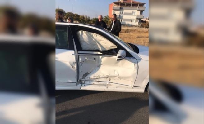 2 Otomobilin Karıştığı Kaza'da 2 Kişi Yaralandı