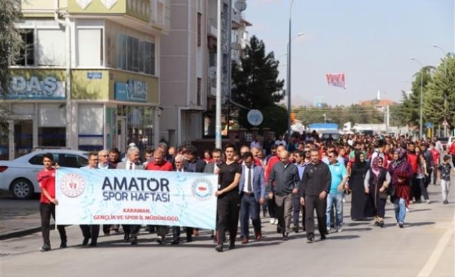 `Amatör Spor Haftası` Etkinlikleri Kortej Yürüyüşü İle Başladı