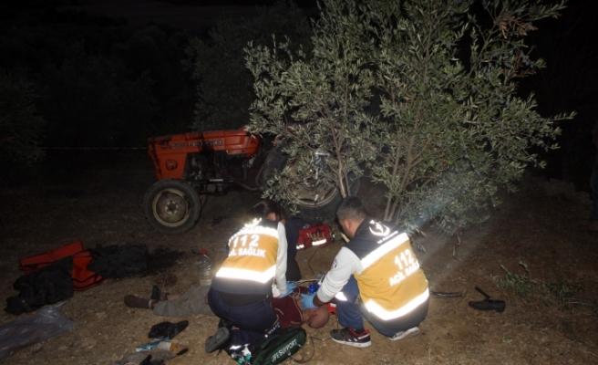 Zeytin Bahçesinde Traktörün Altında Kalan Adam Hayatını Kaybetti