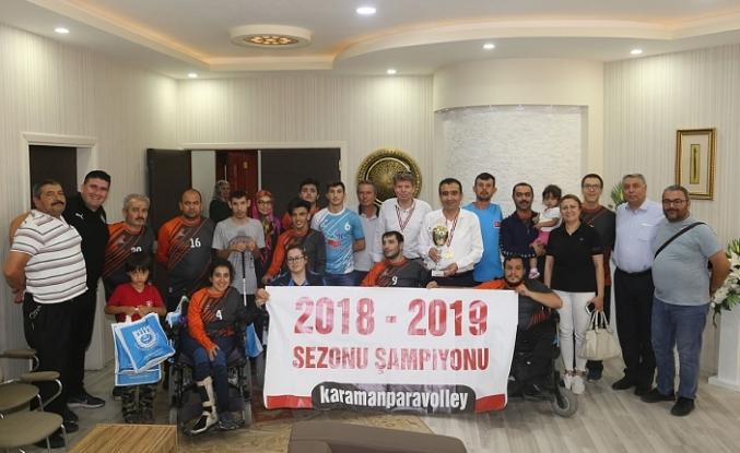 Şampiyon Sporculardan Başkan Kalaycı'ya Ziyaret