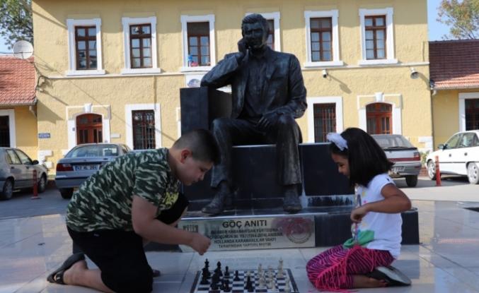 Karaman'da ''Sokakta Satranç Var''Projesine Yoğun İlgi