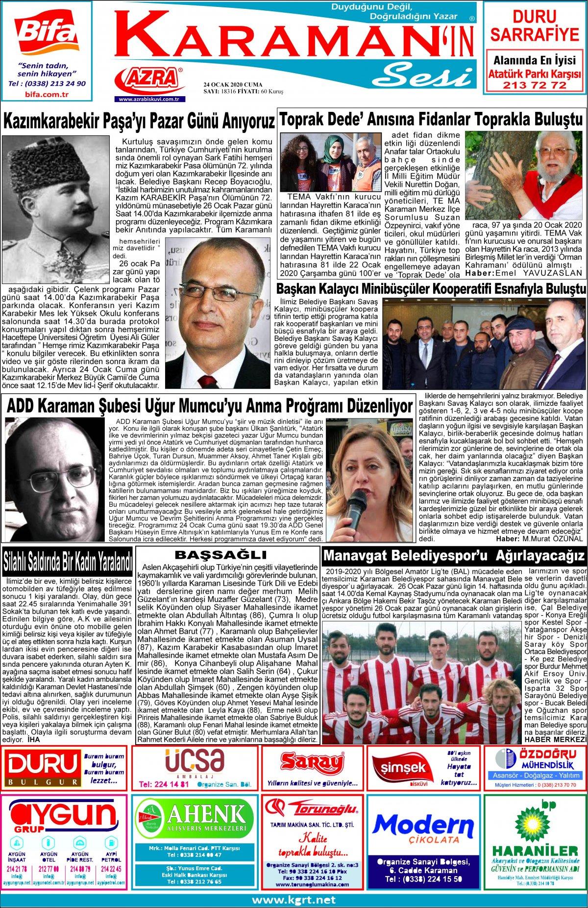 www.kgrt.net - 24.01.2020 Manşeti