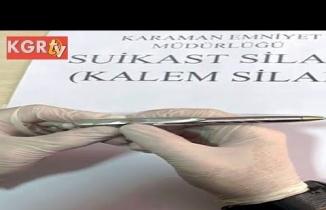 Karaman'da Suikast Sİlahı Ele Geçirildi!